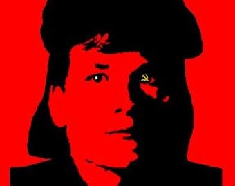 Patrick Swayze as Che Guevara Red Dawn Mens T Shirt