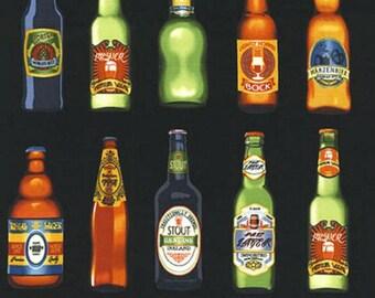Robert Kaufman - Cheers Beer Bottles SRK-14751-2 on Black