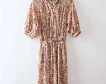 vintage 1970s dress // 70s sheer day dress