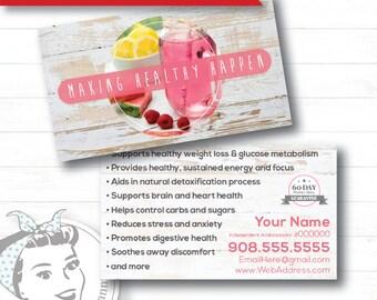 Business Card - White Barnwood, plexus Business Card, New slim, Pink Drink, Pink Drink Update, plexus Swag