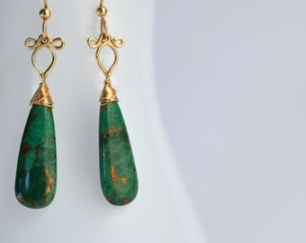Little Preeda - Azurite and 14k Gold Filled Earrings