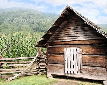 Chicken Coop Print, Farmhouse Decor, Farm print, Barn Photo, Rustic Wall Decor, Garden, Green, Rustic, Primative Decor, Brown, Mountains