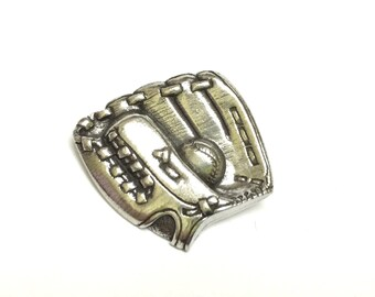 Danforth Baseball Mitt Silver Pewter Shank Button 7/8 inch