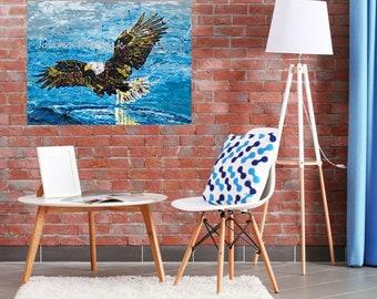 Bald Eagle art, Bald Eagle print, Wild bird art, Bird print, Modern wall art, Pittsburgh Artist,  Johno Prascak