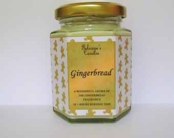 Strong Scented Candle Quality Fragrance Soy Wax Candle in 8 oz Glass Jar Gingerbread