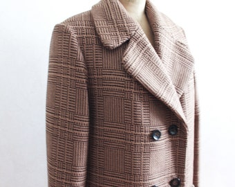 Wool coat women Trench coat Outfit coat Brown Wool overcoat Scottish plaid overcoat Outfit clothing women coat Scottish plaid