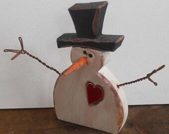 Little Buddy 2 Wood Snowman