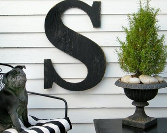 """24"""" Extra Large Letter Wall Decor Oversized Letter Wooden Letter Big Letter Rustic Decor Wedding Decor Guest Book Wall Letter Nursery Letter"""