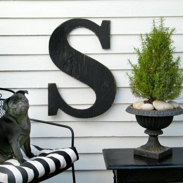 Large Outdoor Wall Letters Fascinating 24 Extra Large Letter Wall Decor Oversized Letter Wooden Inspiration Design