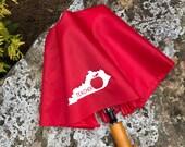 Teacher Umbrella - Kentucky Teacher - Red Teacher Appreciation Umbrella