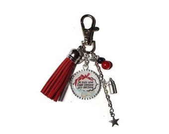 """Wise woman, gift Keychain wise woman, """"I am a wise woman who rocks"""""""