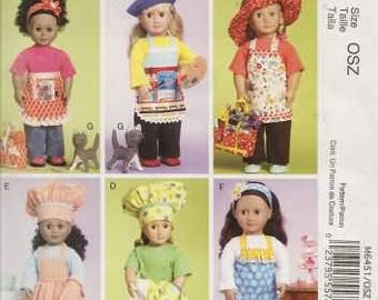 18 Inch Doll Clothes Pattern.  New McCalls Pattern 6451
