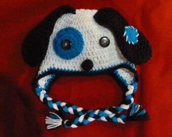 Earflap Puppy Hat - 9-12 months