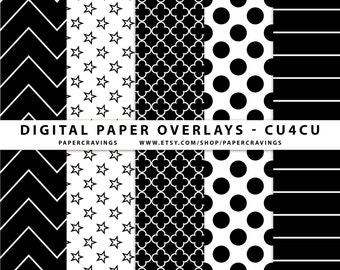 Digital Paper Overlay Paper Template Chevron Polka Dot quatrefoil Stripe flower CU4CU Commercial Use No Credit Pattern Photoshop PSD png