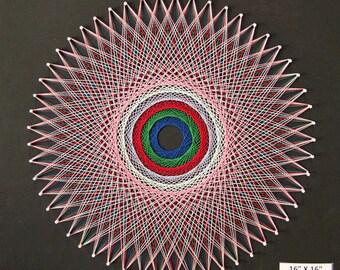 Round Optical String Art