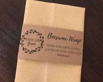 Beeswax wraps, beeswax food storage, zero waste, eco friendly, reusable snack, pine resin, zero waste kitchen, zero waste kit