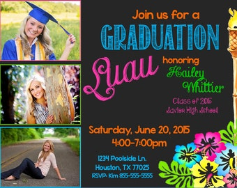 Luau Invitation (Graduation, Birthday & More!) TOP SELLER!