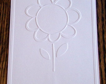 DAISY Embossed Card Stock Panels Perfect for Scrapbooking and Card Making - Set of 12