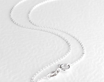 Simple Sterling Silver Chain, Delicate Choker Necklace, Minimalist Chain Necklace, 16, 18 & 20 Inch