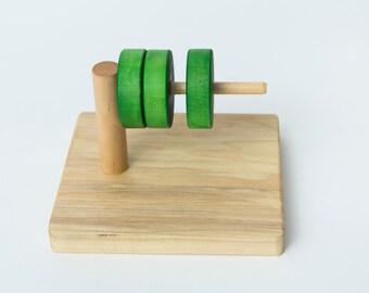 Montessori Discs on a Horizontal Dowel
