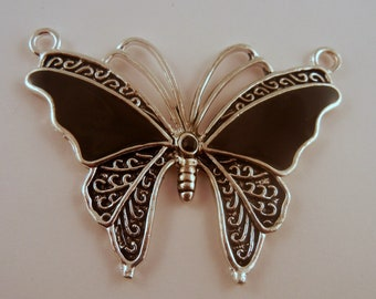Butterfly Pendant black and silver