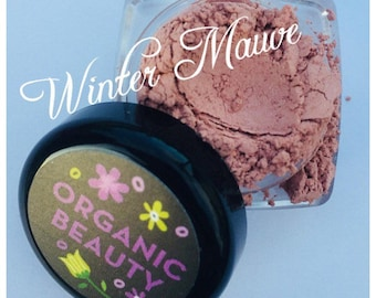 WINTER MAUVE Blush Organic Dusty light Mauve Berry Shade Organic Beauty Vegan Cruelty Free