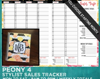 sales tracker stylist book you choose starting month