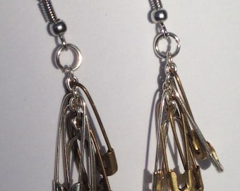 Safety pin earrings for extra safty
