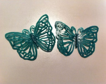 1970s Red Tag Toy PAIR OF BUTTERFLY Brooches