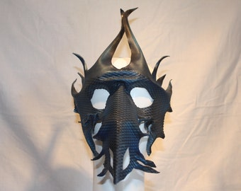 Handmade leather dragon mask