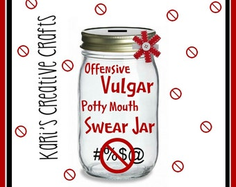 Offensive Vulgar Potty Mouth Swear Jar Swear Jar Bank