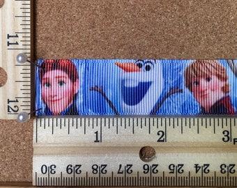 Disney Frozen Olaf Elsa Anna 7/8 inch Grosgrain Ribbon