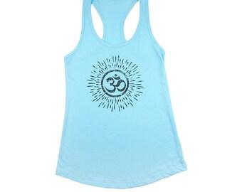 OM SHIRT, Tank Top, Yoga Tank, Meditation Tank Top, Yoga Gift, Spiritual Tee, Racerback Tank, Mindfulness Shirt, Gift for Her, Aum Tshirt