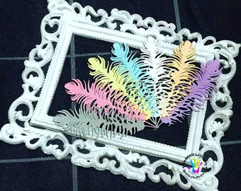 Drifting Feather cut out. 1 pack of 10pcs. Perfect for your cardmaking, scrapbooking, lay out, tags, etc.