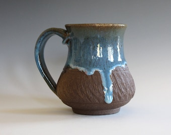 Pottery Coffee Mug, 12 oz, ceramic cup, hand thrown mug, stoneware mug, pottery mug, unique coffee mug, ceramics and pottery