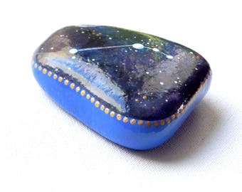 Hand Painted Stone, Aries Constellation Stone, Zodiac Rock, Hand Painted Art, Astrology Stone, Astronomy Gift, Arttohaveandtohold