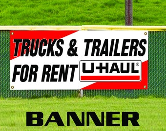 Trucks & Trailers For Rent Business Advertising Banner Sign