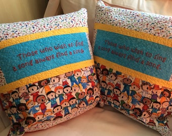 Choir quilted Pillow cover
