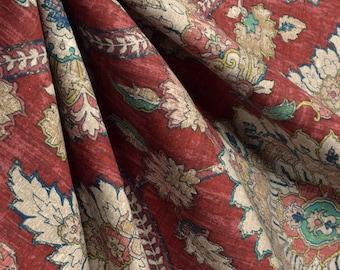 Damask Shower curtain Red Navy Yellow Shower curtain. 72 x 84 108 long shower curtain. Extra wide shower curtain Custom shower curtain