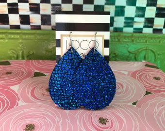 Royal Blue Holographic Earring