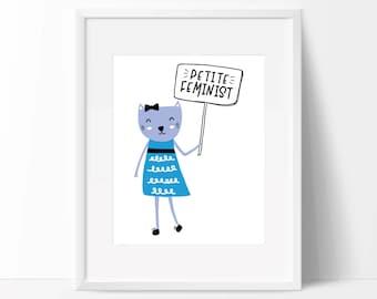 Nursery Print, Feminist Print, Feminist Art, Art Print, Girls Room, Baby Shower Gift,  Nursery Art, Feminism, Tiny feminist, Girl Power
