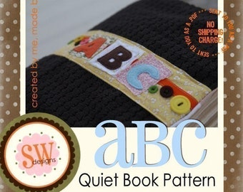 PATTERN for ABC Activity Book - all 26 letters - digital .PDF download