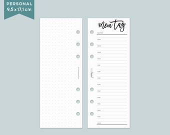 My tag notebook paper slim-personal-black and white