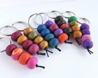 Bright Bead Keyrings