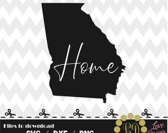 Georgia Home svg,png,dxf,cricut,silhouete studio,georgia silhouette decal,cutting files svg,albany,bulldogs,atlanta