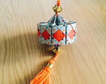 Lantern orange origami suspended for Chinese new year
