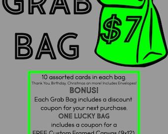Grab Bag 10 cards for only 7 bucks | birthday | Christmas | thank you | discount | bonus