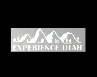 Hiking - Experience Utah Vinyl Sticker