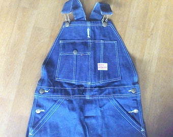 Vintage bib overalls, Old Hickory,  27 waist x 23 inseams, never worn, farm cloths, vintage children cloths