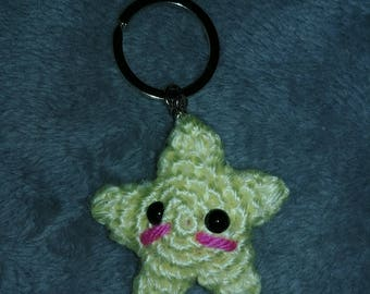 Kawaii Starfish Keychain